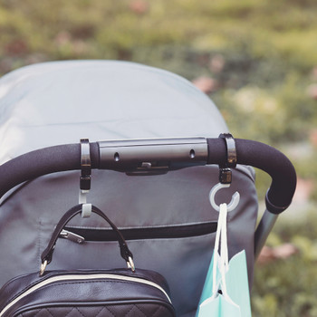 Diono Buggy Hooks for Stroller attached to rucksack and shopping bags
