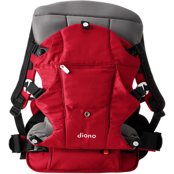 Diono Carus Complete 4-in-1 Child & Baby Carrying System with Detachable Backpack [Red]