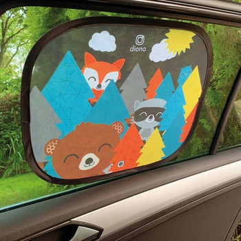Kids Character Car Window Shade 2 Pack - Cling Sunshade for Car Windows, Baby Side Window Car Sun Shades for Blocking Sun Glare, UV Rays