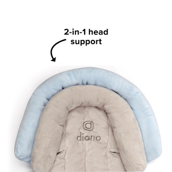 Diono Cuddle Soft 2-in-1 Baby Head Neck Body Support Pillow [Gray/Blue]