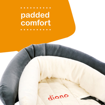 Diono Cuddle Soft Pack of 2 Baby Head Neck Body Support Pillows has padded comfort [Gray]