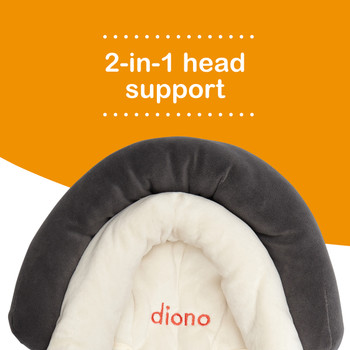 Diono Cuddle Soft Pack of 2 Baby Head Neck Body Support Pillows . 2-in-1 head support [Gray]