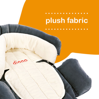 Diono Cuddle Soft Pack of 2 Baby Head Neck Body Support Pillows has plush fabric [Gray]