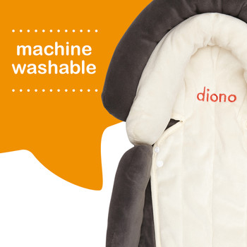 Diono Cuddle Soft Pack of 2 Baby Head Neck Body Support Pillows is machine washable [Gray]
