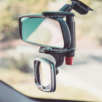 Diono Baby Car Mirror 2 Pack - See Me Too installed [Silver]