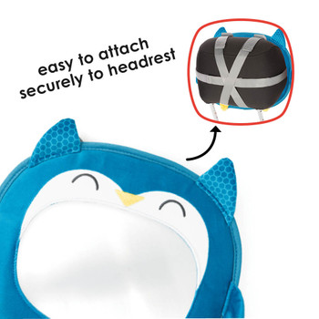 Easily attach to vehicle headrest [Owl]