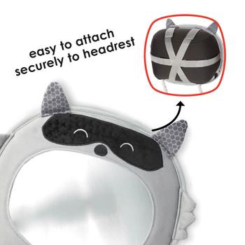 Easily attach to vehicle headrest [Raccoon]