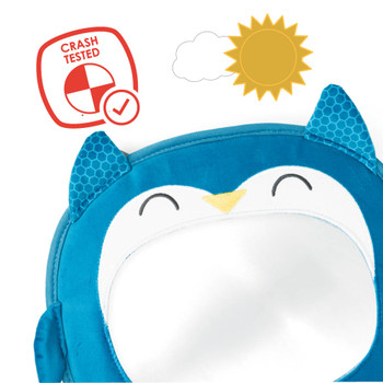 Easy View™ Character Baby Car Mirror has been Crash Tested for added safety [Owl]