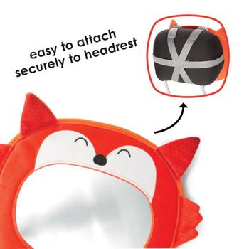 Easily attach to vehicle headrest [Fox]