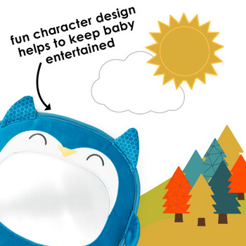 Features fun character design to keep baby entertained [Owl]