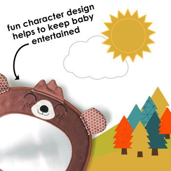 Features fun character design to keep baby entertained  [Bear]
