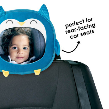 Easy View™ Character Baby Car Mirror is perfect for rear-facing car seats [Owl]