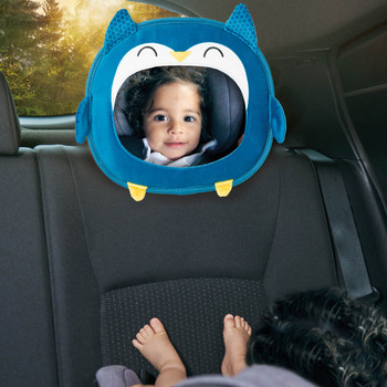 Easy View™ Character Baby Car Mirror  shown in car with child  [Owl]
