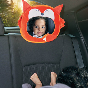 Easy View™ Character Baby Car Mirror  shown in car with child [Fox]