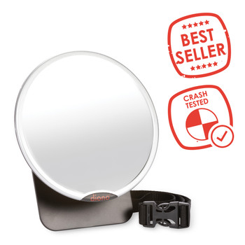 Diono Easy View® Baby Car Mirror - Best-Seller and Crash Tested [Silver]