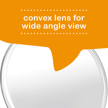 Diono Easy View™ Pack of 2 Baby Car Mirror has a convex lens for wide angle view [Silver]