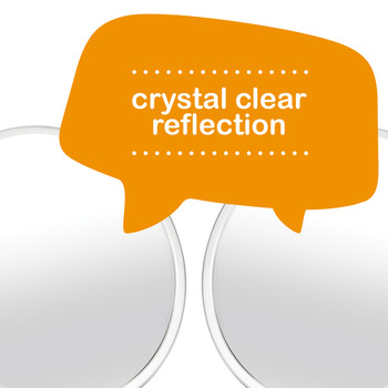 Diono Easy View™ Pack of 2 Baby Car Mirror provides a crystal clear reflection [Silver]