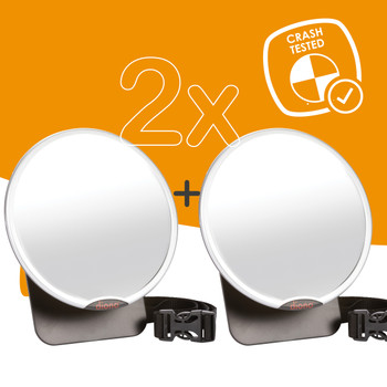Diono Easy View™ Pack of 2 Baby Car Mirror is crash tested [Silver]