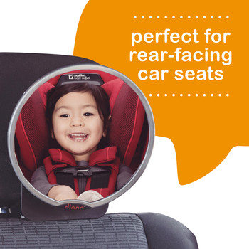 Diono Easy View™ Pack of 2 Baby Car Mirror is perfect for rear-facing car seats [Silver]
