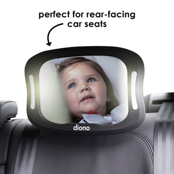 Diono Easy View® XXL Baby Car Mirror - Perfect for rear facing car seats [Black]