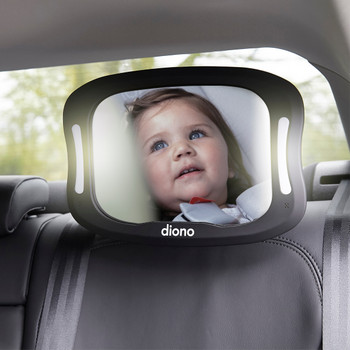 Diono Easy View® XXL Baby Car Mirror - Mirror attached to car seat headrest [Black]
