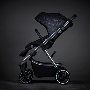 Diono Excurze Luxe Baby, Infant, Toddler Stroller, Perfect City Travel System Stroller and Car Seat Compatible, Adaptors Included Compact Fold, Narrow Ride, XL Storage Basket [Black Camo]