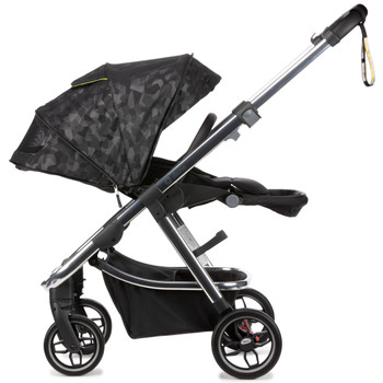 Diono Excurze Luxe Baby, Infant, Toddler Stroller is designed with a secure tether strap and all-round suspension for easy, one-handed steering and ultimate maneuverability through busy sidewalks [Black Camo]