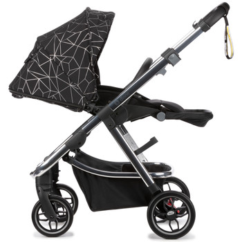Flawlessly navigate city streets with Diono luxe fabrics designed to make you stand out from the crowd [Black Platinum]