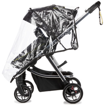 Every Diono excurze comes with a 2-in-1 protective boot that easily converts from stroller boot to carrycot apron with one simple zip. Made from showerproof material and suitable for all weather conditions [Black Camo]