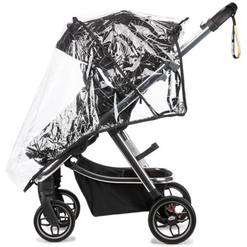 Every Diono excurze comes with a 2-in-1 protective boot that easily converts from stroller boot to carrycot apron with one simple zip. Made from showerproof material and suitable for all weather conditions [Black Platinum]