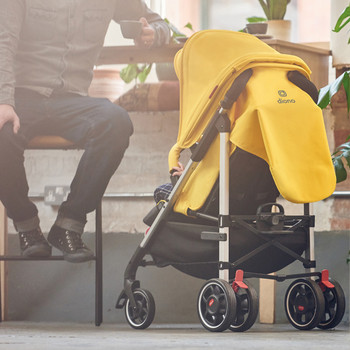 Flexa Umbrella Stroller all round suspension double back wheels [Black Midnight]