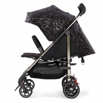 Lightweight Umbrella Stroller With Canopy [Black Platinum]