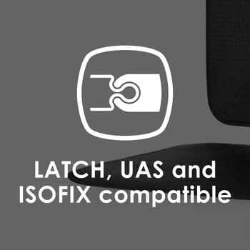 Diono Grip It Car Seat Protector -Latch, UAS, & ISOFIX compatible [Black]