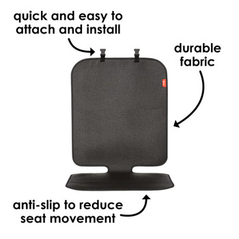 Diono Grip It Car Seat Protector - Easy to install, durable fabric, anti-slip to reduce seat movement [Black]