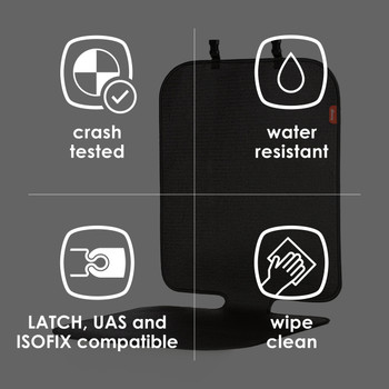 Diono Grip It Car Seat Protector - Features: Crashed tested, water resistant, Latch, UAS, & ISOFIX compatible, Wipe clean [Black]