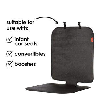 Diono Grip It Car Seat Protector - Compatible with: infant car seats, convertibles and boosters [Black]