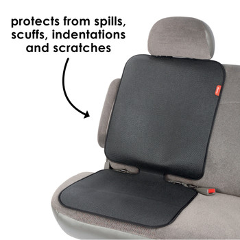 Diono Grip It Car Seat Protector - Protects from spills, scuff,  indentations and scratches [Black]