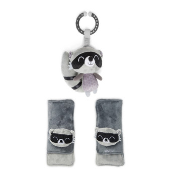 Soft wraps® harness pads and multi-sensory toy [Raccoon]
