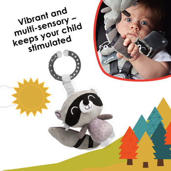 Vibrant and multi-sensory toy keeps your child stimulated on the go [Raccoon]