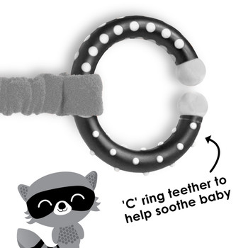 C ring teether also helps to soothe baby  [Raccoon]