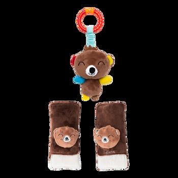 Soft wraps® harness pads and multi-sensory toy [Bear]