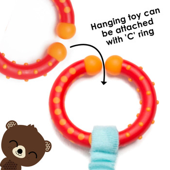 Hanging toy can be easily attached to stroller with C ring  [Bear]
