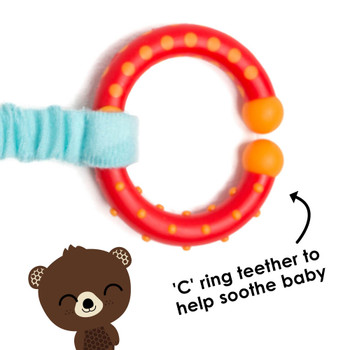 C ring teether also helps to soother baby [Bear]