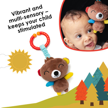 Vibrant and multi-sensory toy keeps your child stimulated on the go [Bear]