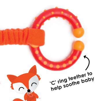 C ring teether also helps to soothe baby [Fox]