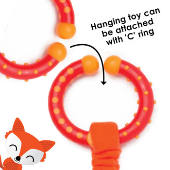 Hanging toy can be easily attached to stroller with C ring  [Fox]