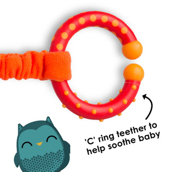 C ring teether also helps to soothe baby [Owl]