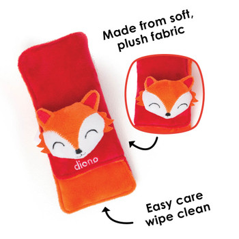 Made from plush soft fabric, easy care wipe clean [Fox]