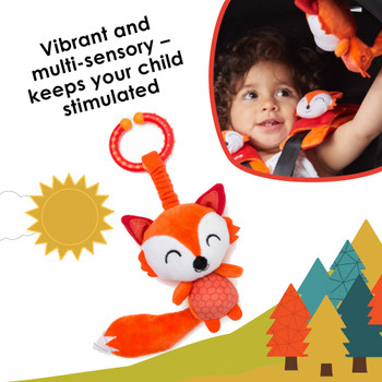 Vibrant and multi-sensory toy keeps your child stimulated on the go [Fox]
