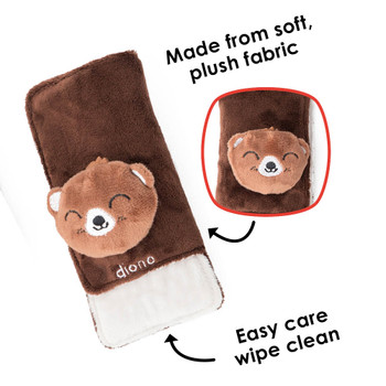 Made from plush soft fabric, easy care wipe clean [Bear]